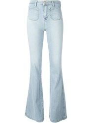 J Brand Flared Jeans Blue