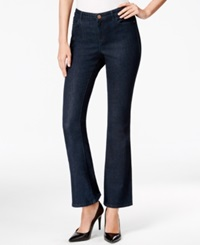 Style And Co. Petite Flared Leg Jeans Rinse Wash Only At Macy's