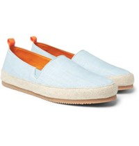 Mulo Linen Espadrilles Light Blue