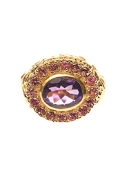 Jade Jagger Amethyst Ruby And Gold Plated Ring