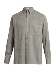 Raey Loose Fit Button Through Shirt Grey