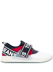 Tommy Hilfiger Slip On Logo Sneakers White