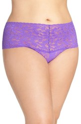 Hanky Panky Plus Size Women's 'Retro' Thong Royal Purple