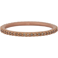 Tate Champagne Diamond And Rose Gold Thread Band Ring