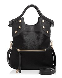 Foley Corinna And Fc Lady Calf Hair Tote Black Haircalf