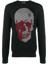 Philipp Plein Pp Logo Skull Sweater Black