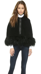Nanette Lepore Captivating Fur Cape Black