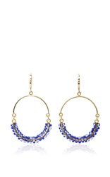 Isabel Marant Gold Tone Resin Earrings Navy