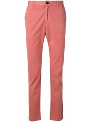 Paul Smith Ps By Slim Fit Stitched Chinos Pink