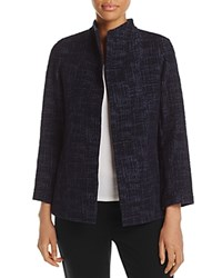 Eileen Fisher Petites Stand Collar Open Front Jacket Midnight