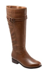 Trotters Women's 'Lyra' Riding Boot Cognac Leather