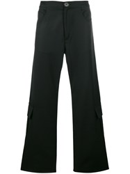Wales Bonner Straight Cargo Trousers Black