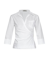 Nina Ricci Cotton Poplin Wrap Around Shirt