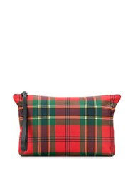 Alexander Mcqueen Plaid Clutch Red