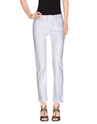 Tory Burch Denim Denim Trousers Women White