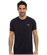 Puma Essential Short Sleeve Crew New Navy White Men's Short Sleeve Pullover