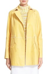 Lafayette 148 New York Women's Lance Leather Trench Coat