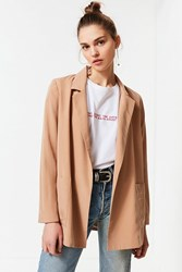Urban Outfitters Uo Drapey Belted Blazer Tan