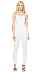Keepsake Skinny Love Jumpsuit White