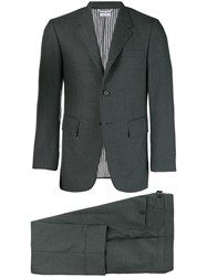 Thom Browne Wide Lapel Suit With Tie Grey
