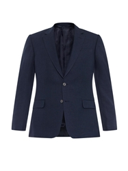 Gieves And Hawkes Notch Lapel Linen Blend Blazer