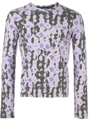 Walter Van Beirendonck Vintage Printed Longsleeved T Shirt Pink And Purple