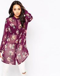 Lovestruck Monica Shirt Purplemulti