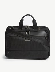 Briggs And Riley Work Medium Expandable Nylon Briefcase Black