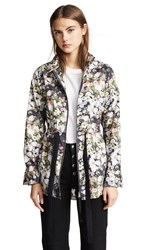 Adam By Adam Lippes Anorak With Side Ties Black Floral
