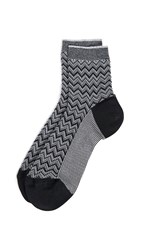 Missoni Short Socks Silver