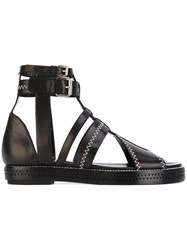 Ellery Gladiator Sandals Women Leather 36 Black