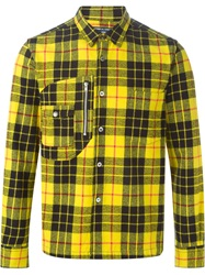 Comme Des Garcons Vintage Tartan Print Shirt Yellow And Orange