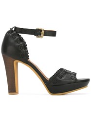 See By Chloe Scalloped Detail Sandals Black