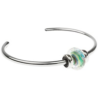 Trollbeads Sterling Silver Small Italian Glass Day Bangle Silver