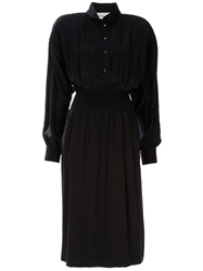 Laura Biagiotti Vintage Silk Dress Black