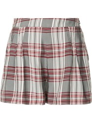 Markus Lupfer Plaid High Waisted Shorts Multicolour