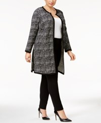 Alfani Plus Size Printed Topper Jacket Only At Macy's Textured Circles