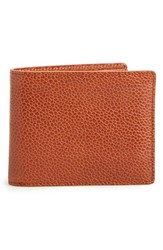 Rag And Bone Men's Rag And Bone Leather Billfold Wallet Brown Pebbled Tan