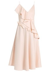 Anna October Asymmetric Ruffle Sleeveless Dress Light Pink