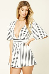 Forever 21 Haute Rogue Striped Romper