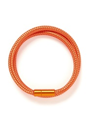 Tateossian 'Soho' Woven Copper Double Wrap Bracelet Orange