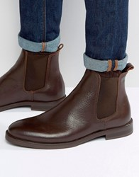 Selected Marc Chelsea Boot In Brown Leather Brown