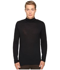 The Kooples Wooly Jersey Turtleneck Black