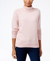 Karen Scott Petite Turtleneck Sweater Only At Macy's Ks Rose Marl