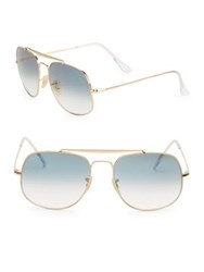 Ray Ban Aviator Square Sunglasses Gold Blue