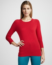 Neiman Marcus Basic Cashmere Sweater Women's
