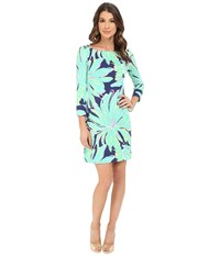 Lilly Pulitzer Upf 50 Sophie Dress Bright Navy Tiger Palm Women's Dress Green
