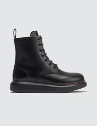 Alexander Mcqueen Hybrid Lace Up Boots Black