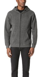 Reigning Champ Bonded Terry Full Zip Hoodie Charcoal