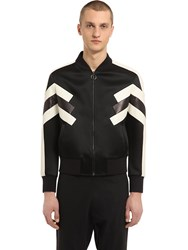 Neil Barrett Patchwork Nylon And Leather Jacket